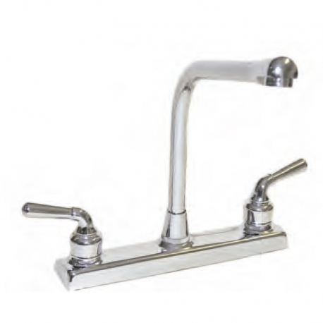 Two Handle High Rise Kitchen Faucet